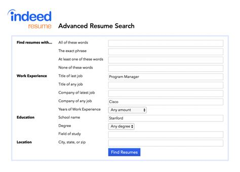 how to use indeed s advanced resume search to find great candidates indeed