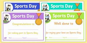 sports day certificate templates free - sports day certificate template sports day effort