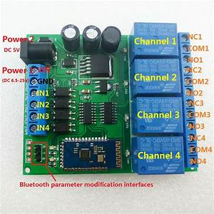 New  Dc 5-24v 4ch Bluetooth Android Remote Control Relay Board Smartphone Switch  Ce041