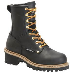 womens work boots 39 s carolina waterproof steel toe logger boots 227428 work boots at sportsman 39 s guide
