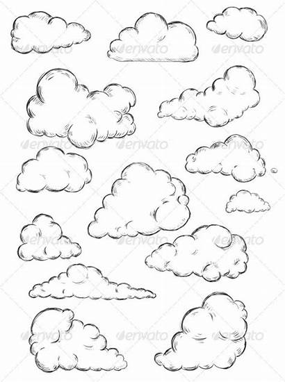Cloud Clouds Drawing Sketch Drawn Vector Sketches