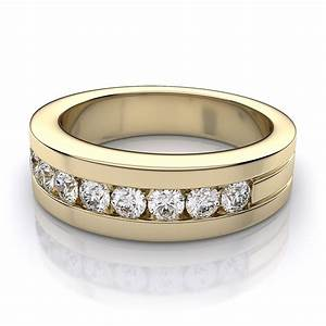 Mens gold diamond wedding rings wedding promise for Mens wedding rings gold with diamonds