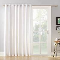 curtains for sliding glass doors Mainstays Blackout Energy Efficient Extra Wide Sliding ...