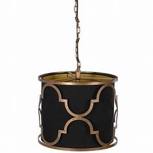 Quatrefoil brass ceiling pendant light french bedroom company
