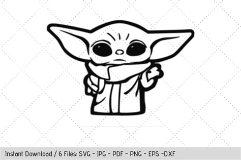 Creating a baby yoda svg to make a onesie and make myself my own printables and shirt was a must have using my cricut machine! $1 DEAL Baby Yoda Standing SVG   Yoda drawing, Yoda decals ...