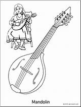Coloring Mandolin String Instrument Instruments Worksheets Abcteach Musical Worksheeto sketch template