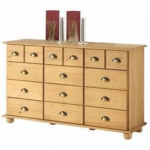 Commode En Pin : commode en pin colmar 12 tiroirs finition cir e achat vente commode de chambre commode en ~ Teatrodelosmanantiales.com Idées de Décoration