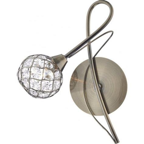 cir0775 antique brass switched wall light dar circa 1 light