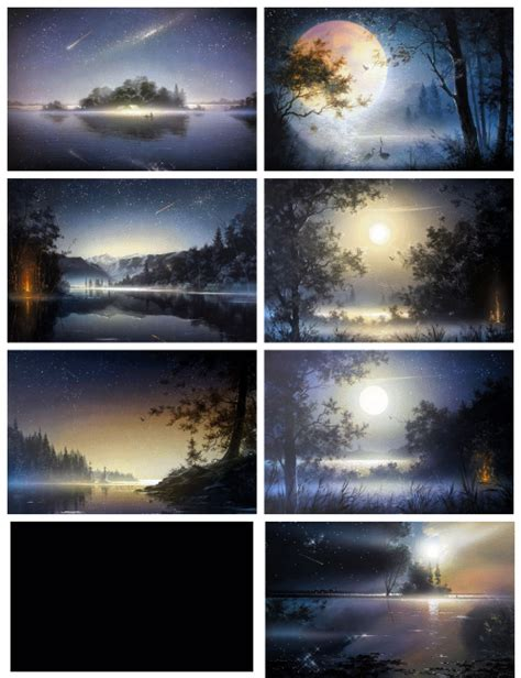 Marygelal Painting Night Forest