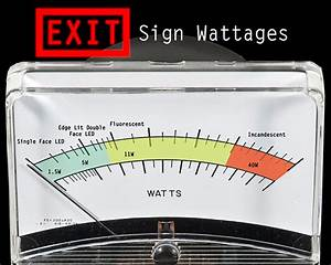 Red Or Green  Don U0026 39 T Buy The Wrong Exit Sign  U2014 1000bulbs