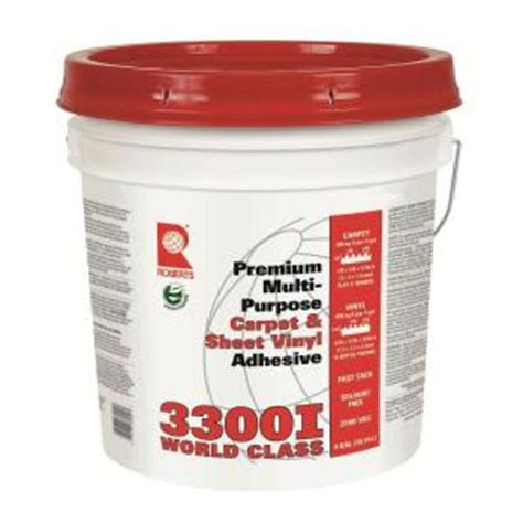 home depot flooring adhesive roberts 4 gal multipurpose worldwide carpet and vinyl glue adhesive 3300i 4 the home depot