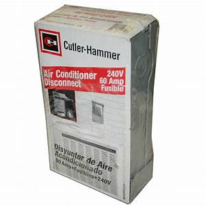 New Eaton Cutler Hammer Dpf222rp Air Conditioner Disconnect 240v 60 Amp Fusible