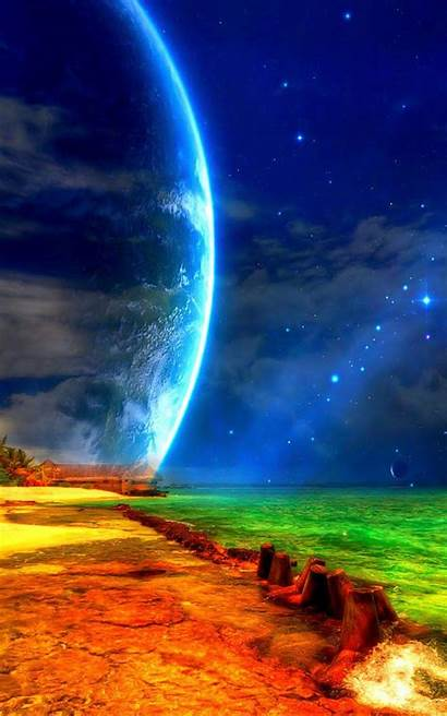 Moon Sea Wallpapers Mobile Beach