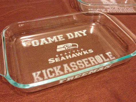 seattle seahawks game day kickasserole baking dish