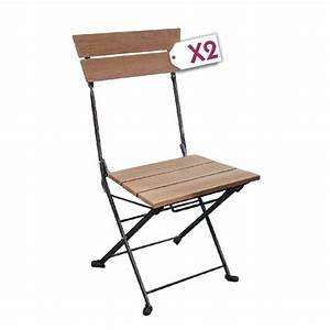Chaise Fer Et Bois : chaise pliante fer et bois table de lit ~ Teatrodelosmanantiales.com Idées de Décoration