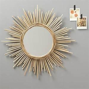 Miroir En Rotin : miroir soleil le miroir vintage qu 39 on adore marie claire ~ Nature-et-papiers.com Idées de Décoration