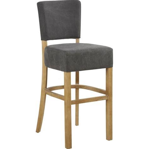 chaise bois et tissu chaise haute de bar ramos en tissu et bois