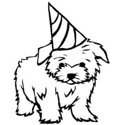 Birthday Puppy Coloring Page