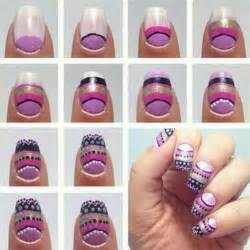 Simple nail art tutorial for short nails styling