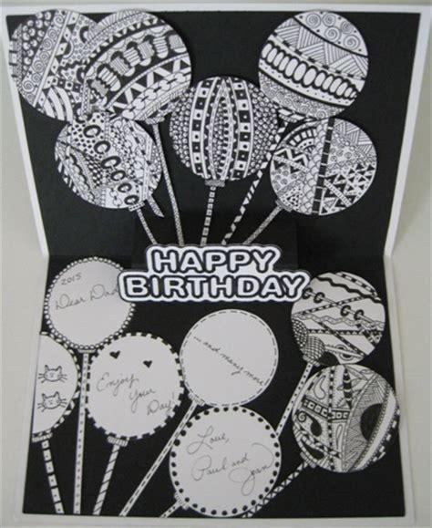 happy birthday zentangle cricut card idea