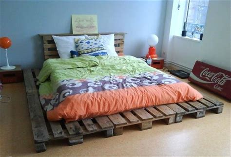 extra wide pallet platform bed  headboard fantastic