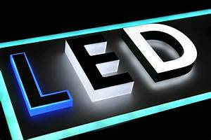 job reference arcadialed With acrylic letters with led