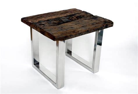 tisch holz designer beistelltisch couchtisch echtholz holz massiv tisch quadrat treibholz ebay