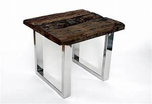 Designer beistelltisch couchtisch echtholz holz massiv for Tisch echtholz