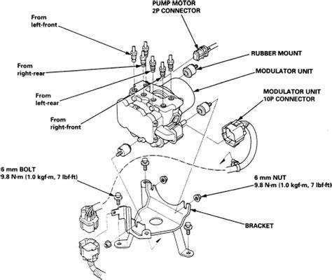 repair anti lock braking 2006 honda accord transmission control repair guides anti lock brake system abs hydraulic control module autozone com