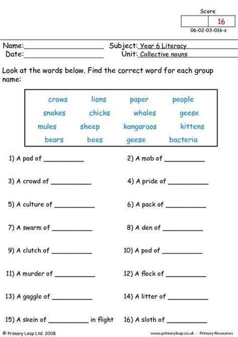 top 25 best collective nouns worksheet ideas on pinterest