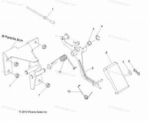 Polaris Side By Side 2013 Oem Parts Diagram For Engine  Throttle Pedal