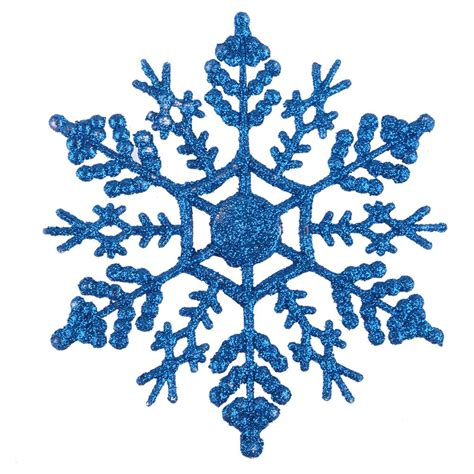 12pcs pack plastic glitter snowflakes xmas tree christmas party home decoration ebay