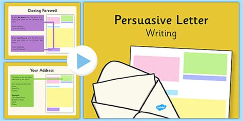 persuasive letter writing ks