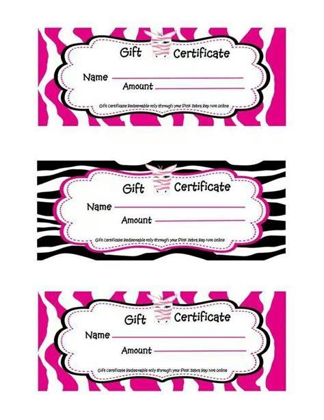 pink zebra gift certificate