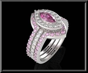 diamond and pink sapphire wedding ring set marquise unique With pink sapphire wedding ring sets