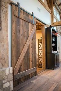 diy barn door wall cabinet via knickoftimenet With best wood for barn door