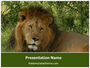 Newsletter Templates Powerpoint Free Lion Powerpoint Template Freetemplatestheme Com