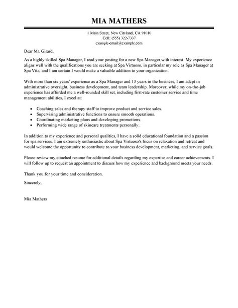 Salon Manager Resume Cover Letter by Salon Manager Resume Best Resumes