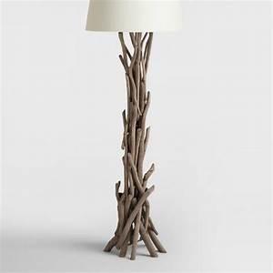 Driftwood floor lamp base world market for Paper floor lamp world market