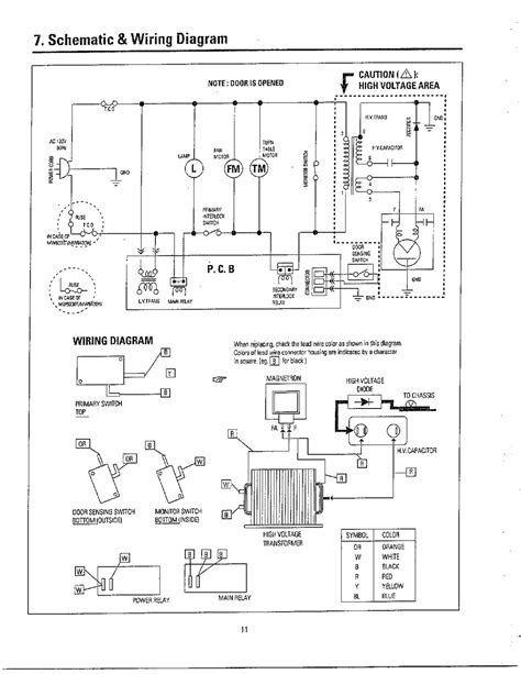 microwave oven wiring diagram wiring diagram and schematics