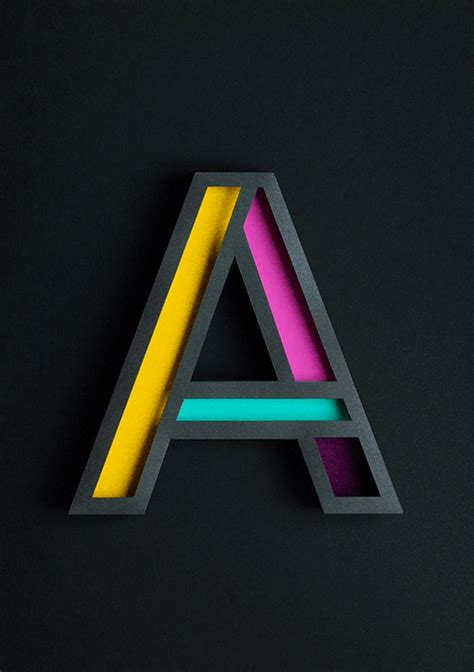beautiful  typography   letter  handcrafted