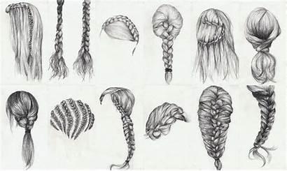 Braid Drawing Hair Draw Braids Braided Sketch