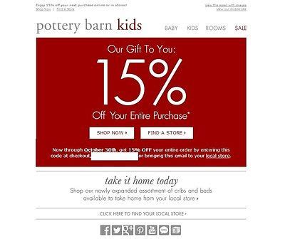 pottery barn free shipping code pottery barn code 15 specialist of coupons