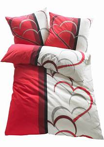 Bettwäsche 200x220 Grau : fr hliche bettw sche amelie mit herzmotiv f r ein romantisches flair rot microfaser ~ Markanthonyermac.com Haus und Dekorationen