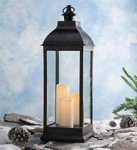 Tall, Indoor, Outdoor, Lantern, With, Led, Candles, And, Remote, -, Walmart, Com