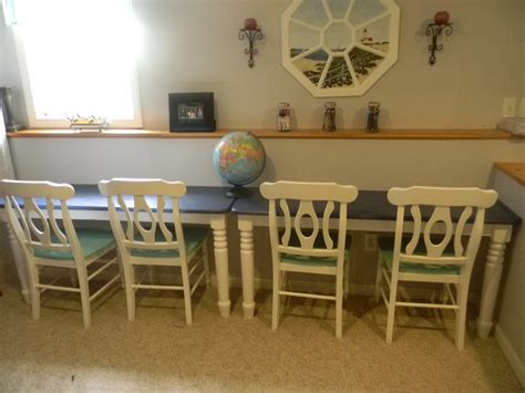 refurbished kitchen table  study desk homeschool