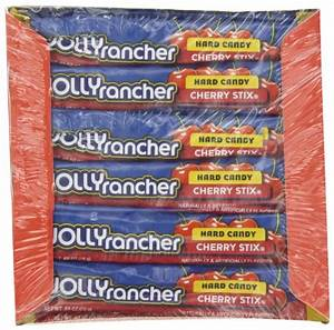 Jolly Rancher Stix Hard Candy, Cherry, 0.65-Ounce Package ...