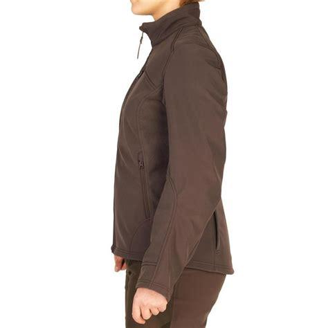solognac warme waterafstotende softshell jas voor de jacht dames  bruin decathlonnl