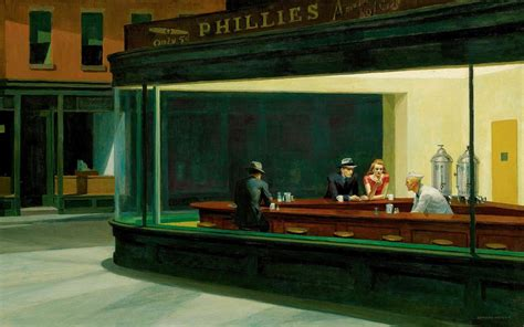 painting restaurant nighthawks edward hopper classic