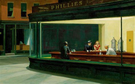 painting restaurant nighthawks edward hopper classic